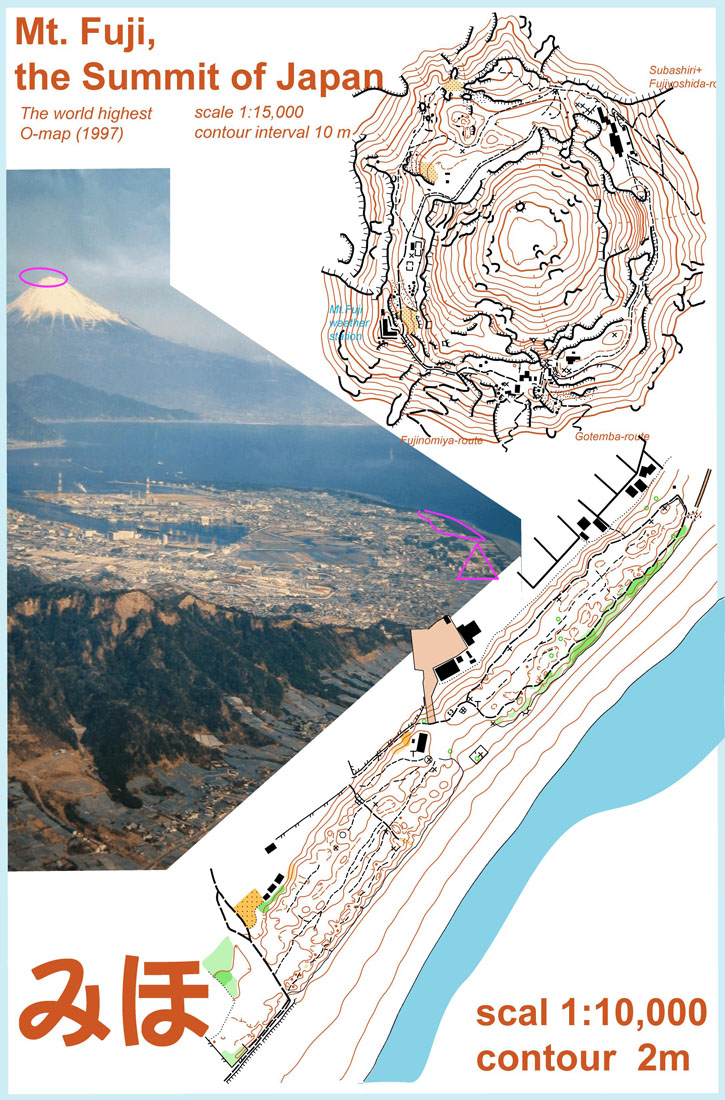 Orienteering map Mt Fuji